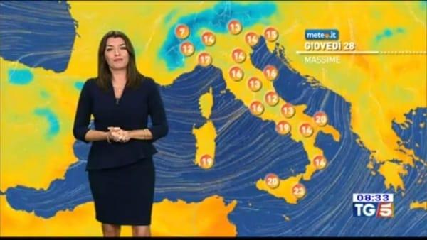 Le previsioni meteo per venerdì 29 novembre 2019