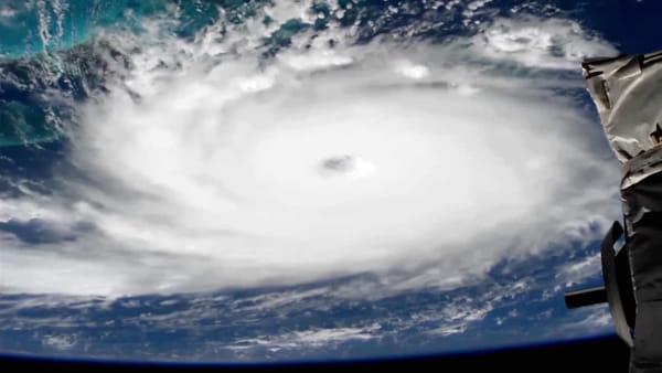 Il video dell'uragano Dorian visto dallo spazio