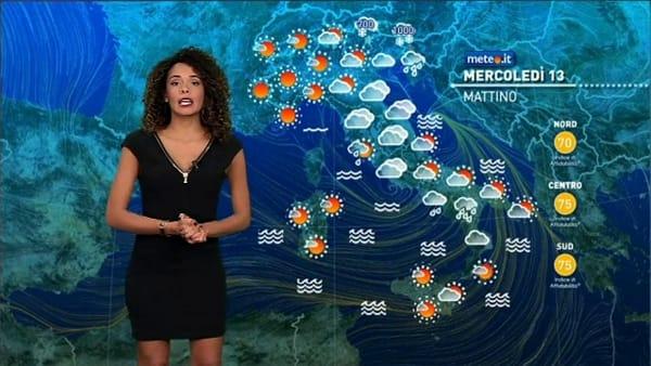 Le previsioni meteo per mercoledì 13 novembre 2019
