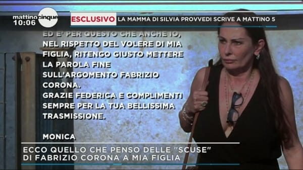 Corona - Provvedi, la madre di Silvia scrive a 'Mattino 5': la lettera per Federica Panicucci
