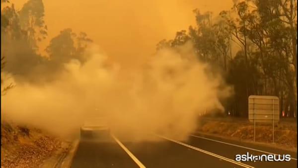 Incendi Australia, venti a 100 km l'ora: richiamati i riservisti
