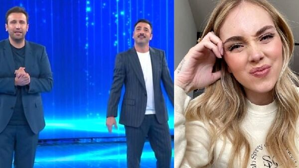 "Amici, lo sketch di Pio e Amedeo su Chiara Ferragni: ""La figlia registrata alla Camera di Commercio, è un marchio"" (VIDEO)"