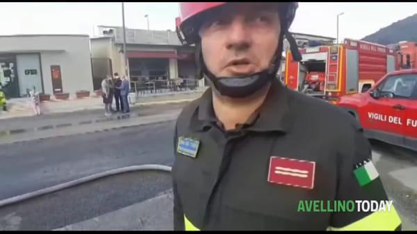 Incendio ad Avellino, dichiarato lo stato di emergenza