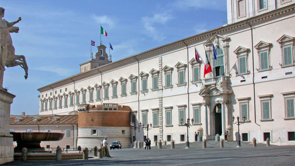 La diretta video streaming dal Quirinale