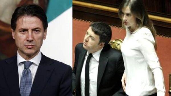 Il primo pranzo tra Conte e Renzi con Maria Elena Boschi