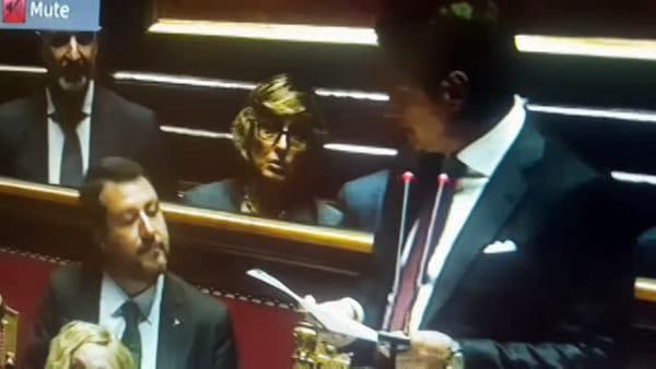 """Crisi di governo, Salvini a Conte: """"Questa è una balla"""""""