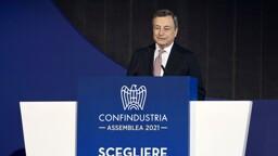 """Draghi: """"Non aumenteremo le tasse"""""""