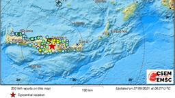 Un forte terremoto ha colpito oggi Creta