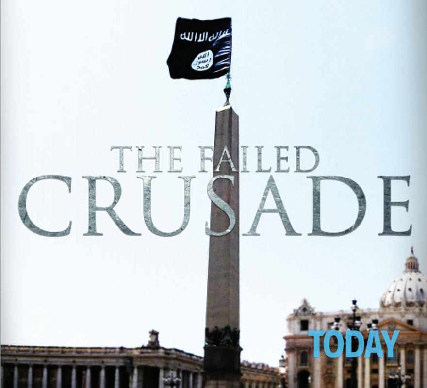 """Bandiera nera dell'Isis in Vaticano: """"La crociata è fallita"""""""