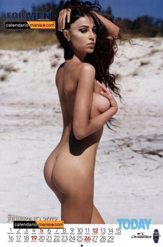 Nuda Calendario.Cecilia Capriotti Calendario