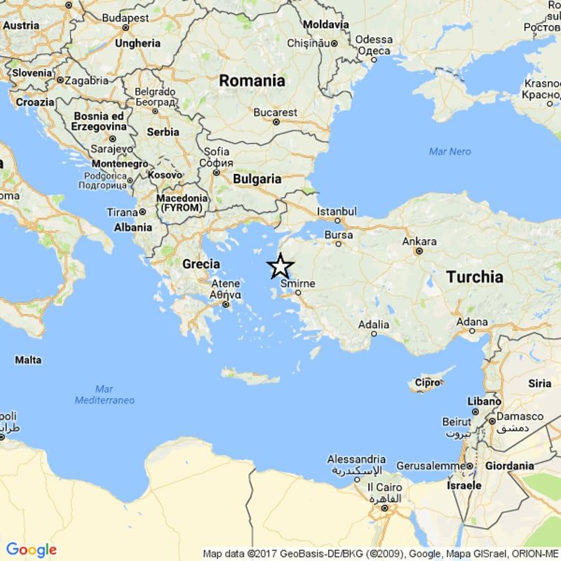 Cartina Mondo Turchia.Terremoto Oggi 12 Giugno 2017 Tra Grecia E Turchia