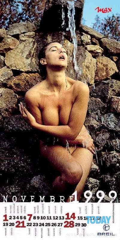 Calendario Max.Monica Bellucci C Calendario Max 1999