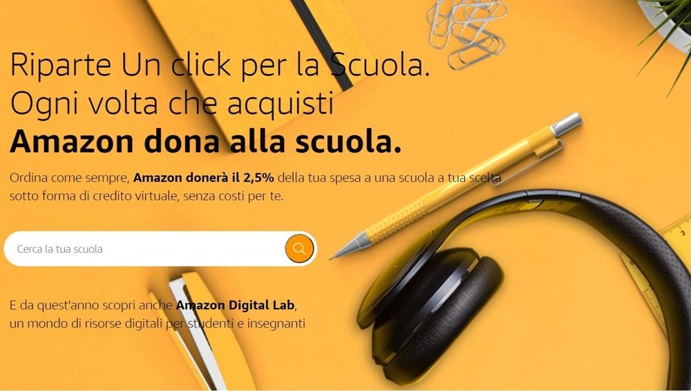 Amazon It Da Il Via Alla Seconda Edizione Di Un Click Per La Scuola