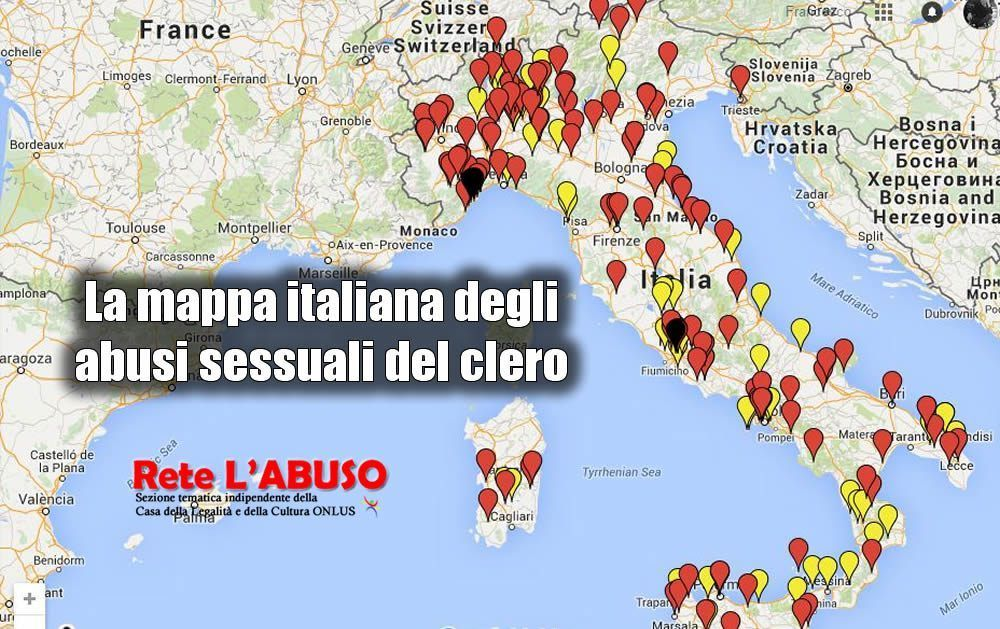 Cartina Italia Completa.Preti Pedofili La Mappa Completa Degli Abusi In Italia