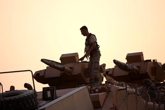 Le truppe militari turche sul territorio siriano (FOTO ANSA)