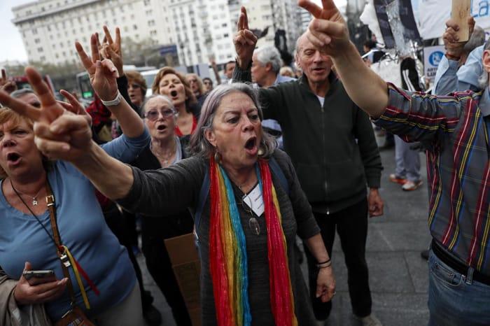 pensioni proteste argentina